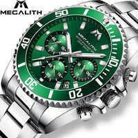 MEGALITH Reloj Hombre 2018 moda Casual Reloj hombres impermeable analógica 24 horas fecha cuarzo relojes deportes cronógrafo Reloj Masculino