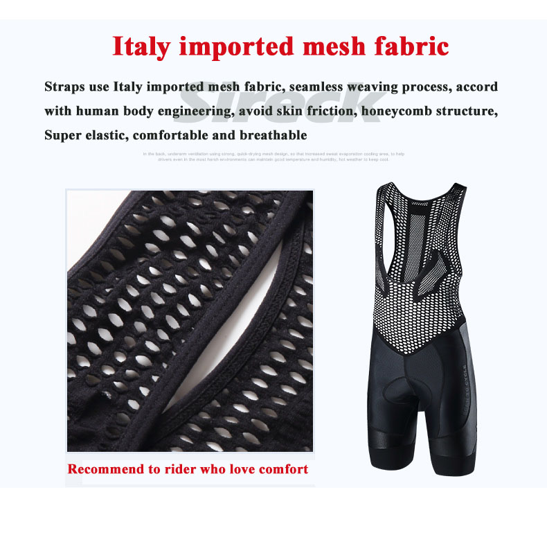 Santic Cycling Shorts Pro Italian Imported Sponge Pad DH Mountain Road Bike Shorts Mesh Breathable MTB Bicycle Downhill Shorts