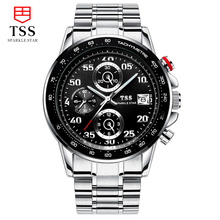 TSS CARRERA Calibre Heuer 01 TACHYMETER Chronograph watches men luxury brand Men's military Luminous watch stainless steel black