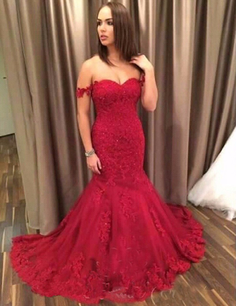 Fair Lady Sweetheart Lace Appliques Prom Dresses Long 2019 Satin Elegant Formal Party Evening Dress