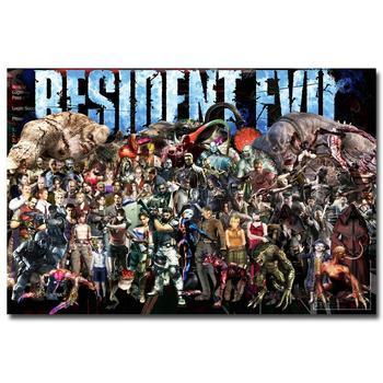 Шелковый Плакат Обитель зла Resident Evil 6 в ассортименте 3