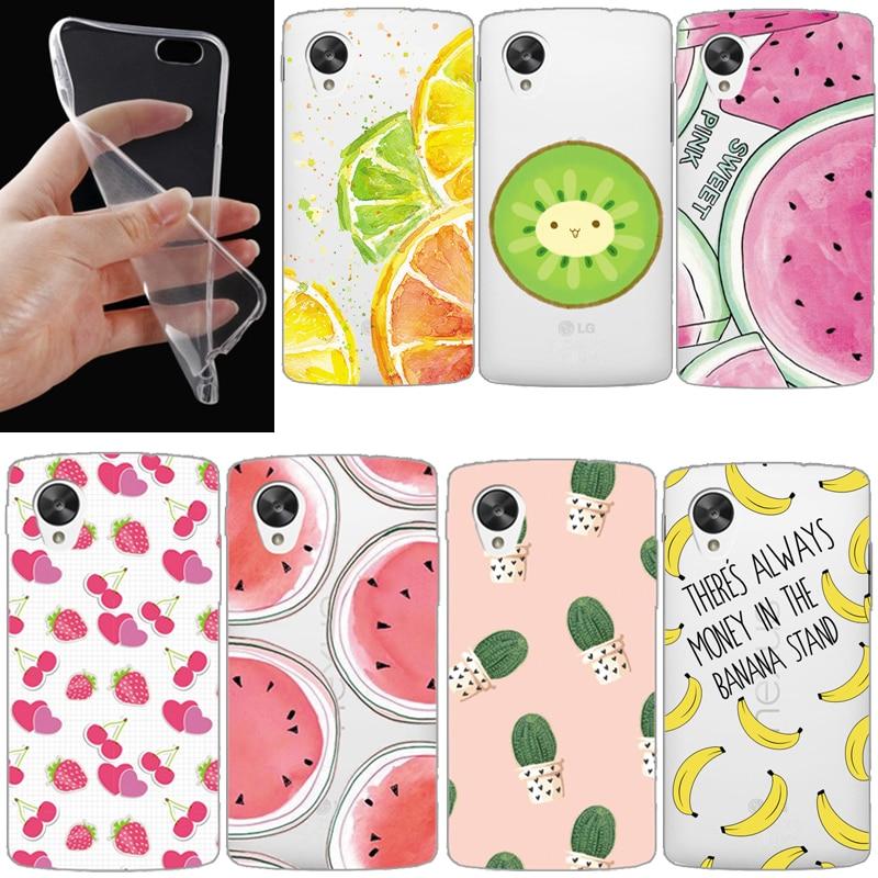 Fruit cat case For LG G2 G3 G4 G4 stylus V10 G2 Mini G4 Mini Transparent Clear Soft TPU Gel Case Slim Crystal Cover 2016 NEW