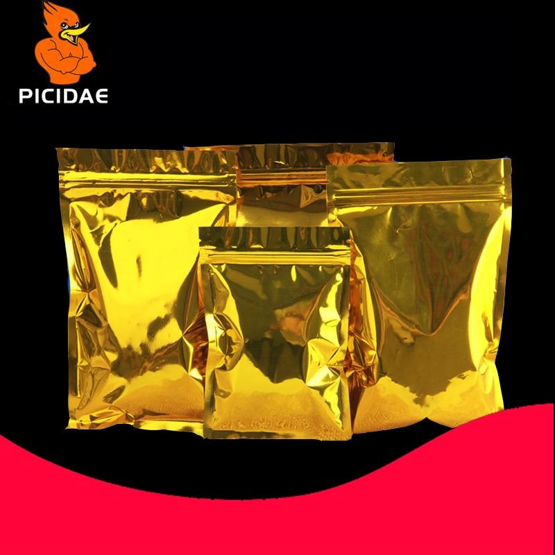 gold Eye mask monitor Granule foil PC board Circuit drug Optical drive hard disk cosmetic tea nut bag Packag bone Zipper ziplock in Storage Bags from Home Garden