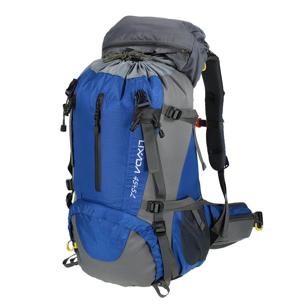 Lixada 50L Outdoor Tactical Backpack Waterproof Travel Climbing Camping Hiking Bicycle Sports Backpacks Bag with Rain