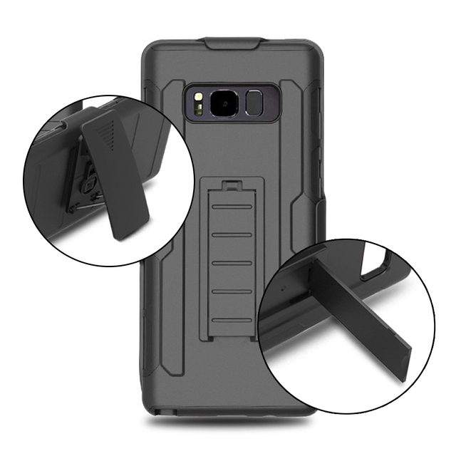 promo code 8268b d309f Anti Knock Case For Samsung Note 8 Case Full Protect Belt Clip Dual Layer  Hybrid Hard Plastic PC Cover For Samsung Galaxy Note 8-in Fitted Cases from  ...