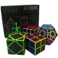 5pcs Set 2x2x2 3x3x3 4x4x4 Magic Speed Cube Set Bandaged Cube Educational Toys Puzzle Megaminx Skew