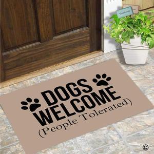 Image 2 - Deurmat Entree Mat Enterways Honden Welkom (Mensen Getolereerd) deurmat 23.6 door 15.7 inch Machine Wasbare niet geweven Stof