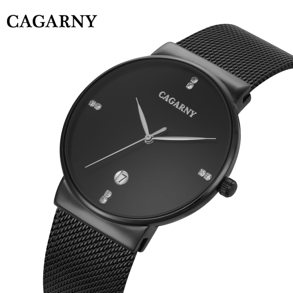 Mens Watches CAGARNY Top Brand Luxury Watch Men Ultra Thin