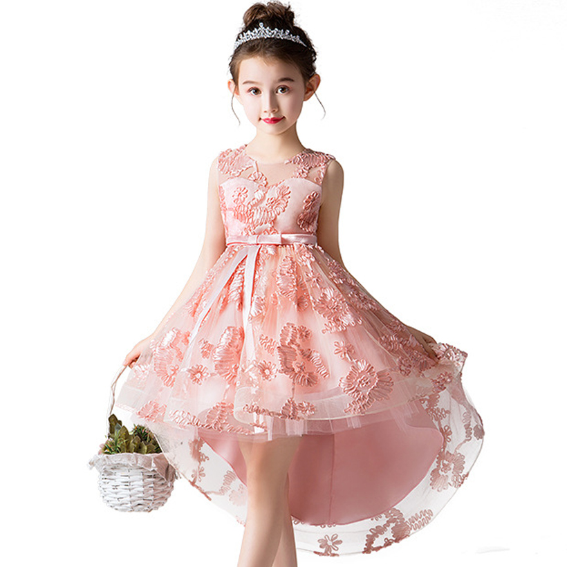 Flower     Girl     Dress   for   Girls   Clothes Wedding Party Kids Prom Gown   Dress     Flower   Tutu Clothing Trailing Children's Princess   Dresses