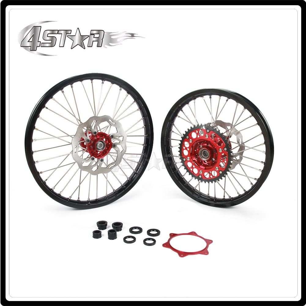 Motorcycle Wheel Rim Hubs Set 1.6*21 1.85*19 For HONDA CRF250R 2014 CRF450R 2013-2014 2013 2014 13 14 саваж каталог осень зима 2013 2014