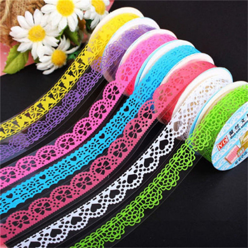 DIY Lace Tape Decorative Stickers For Scrapbooking Paper Tape Adhesive Ornament Free Shipping