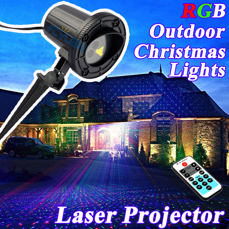 RGB Christmas Motion Lights Outdoor Shower Laser Projector Waterproof IP65 Christmas Decorations For Home