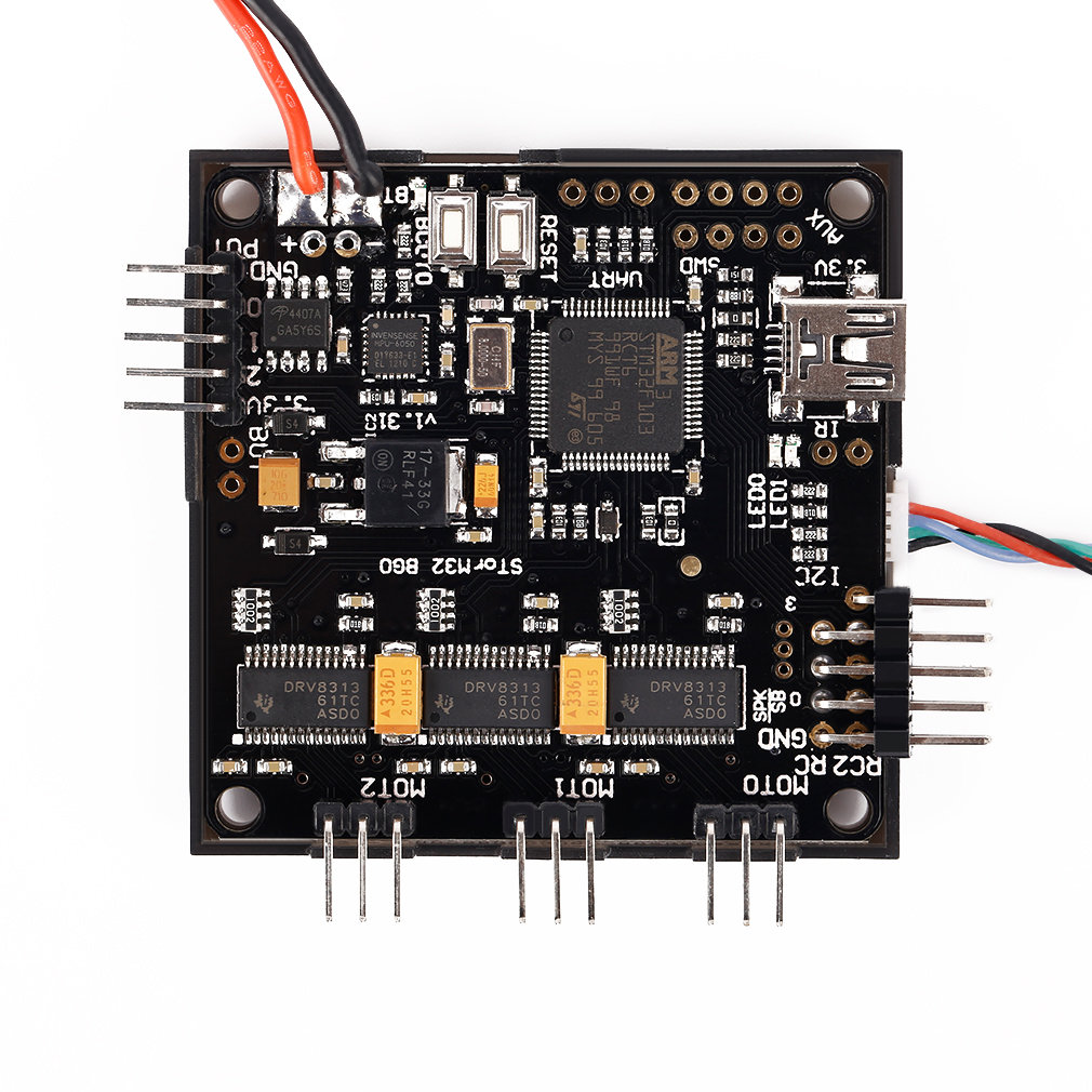 Storm32 BGC 32Bit 3-Axis Brushless Gimbal Controller V1.31 DRV8313 Motor Driver free shipping 2 pcs lot emax gb4114 42kv brushless motor kv42 for 2 axis bgc brushless camera gimbal remote control airplane