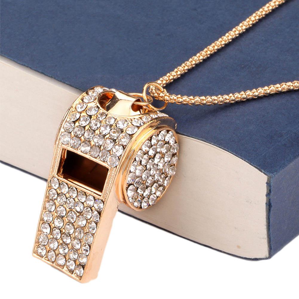 1PIECE crystal Whistle Necklace Supernova sale Full Rhinestone ... 641e7bced465