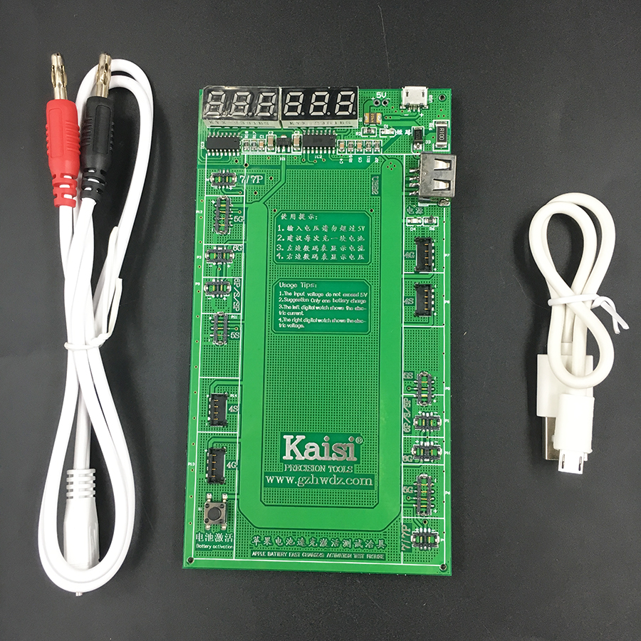 Kaisi 9201 Battery Activation Charge Board plate jig for iPhone 7 Plus 6S 6 Plus 5S 5 4S 4+micro USB Cable phone repair tool чехол для для мобильных телефонов sc co iphone 4 4s 5 5s 6 6 for iphone 4 4s 5 5s 6 6 plus page 8