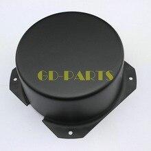 GD PARTS 130x65 مللي متر مدور أسود محول حديد صمام ثلاثي غطاء حماية صندوق العلبة الضميمة ل مضخم الصوت أنبوب Hifi خمر DIY