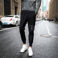 Harem Pants Novo Estilo de Moda 2017 Casuais Calças Calças Cair Calças Virilha Homens Magros Sweatpants Corredores Sarouel