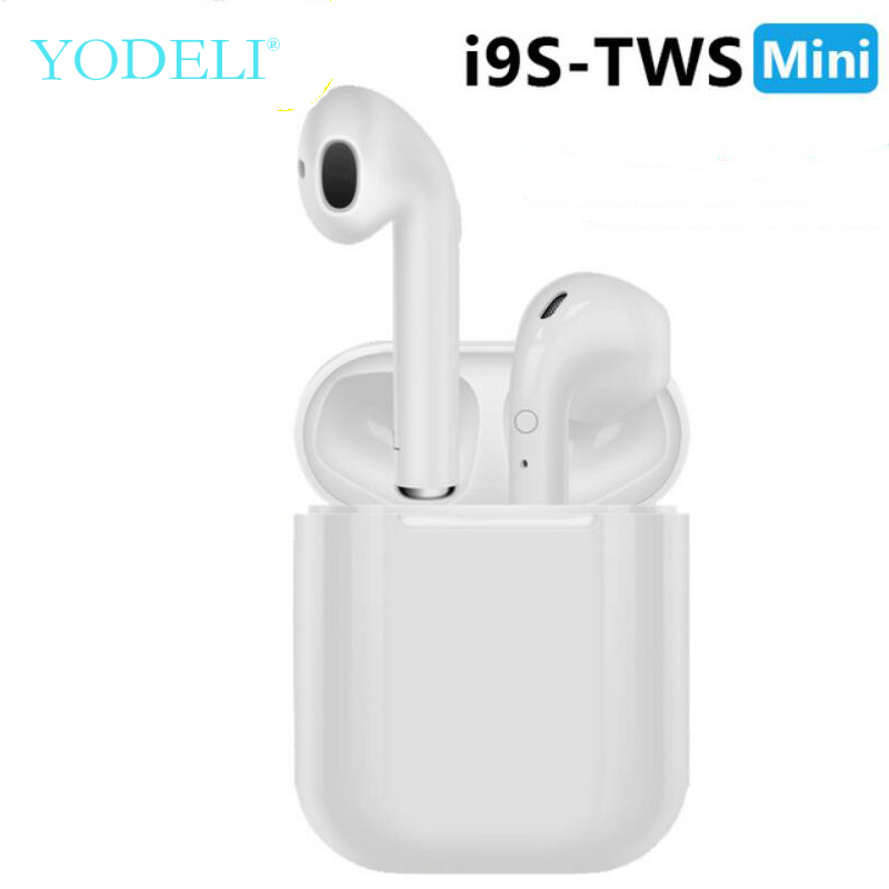 Yodeli I9s Tws Bluetooth Earphone Mini Headphone Wireless Earbuds Sport Bluetooth Headset With Charging Box Mic For Smart Phone