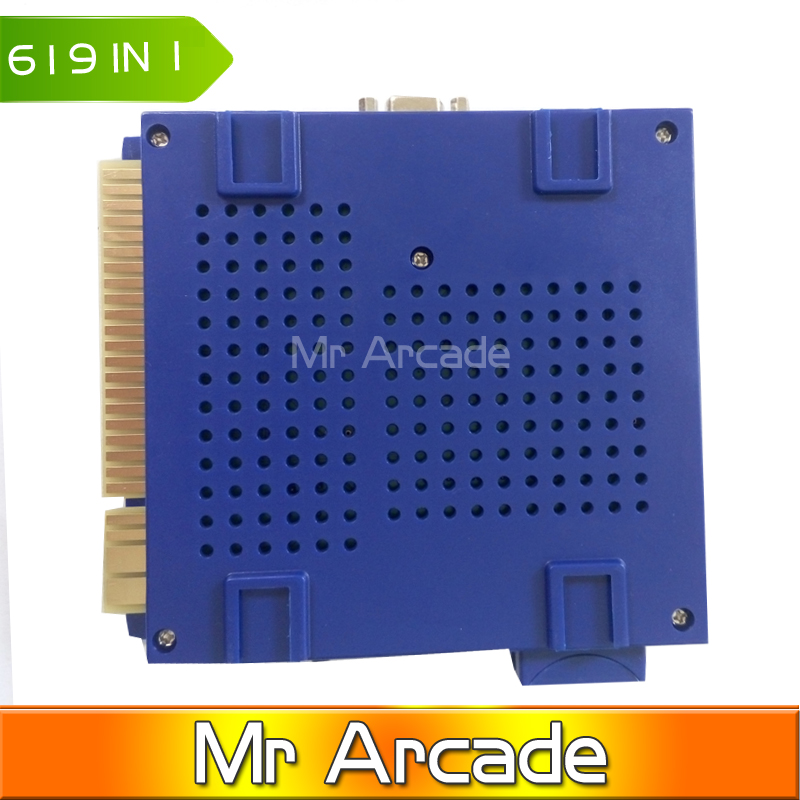 2016 high quality Classical games ELF 619 in 1 board for CGA monitor and LCD VGA horizontal monitor game machine/arcade cabinet fast free ship for gameduino for arduino game vga game development board fpga with serial port verilog code
