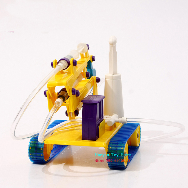 YANZCHILD Hydraulic Crane  DIY Toy Scientific Experiment Technology Small Production STEM Science And Education Science Puzzle