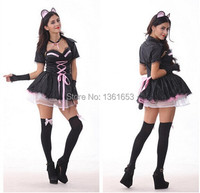 Europe And The US Cat Ladies Dress Bunny Kigurumi Halloween Carnival Costume Devil Cosplay Small Cat