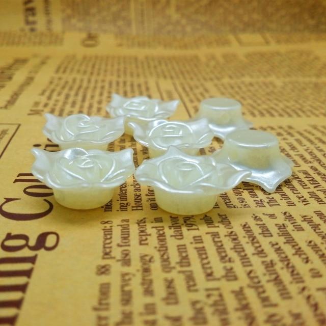 Бусины из абс пластика с имитацией жемчуга прямые бусины отверстиями
