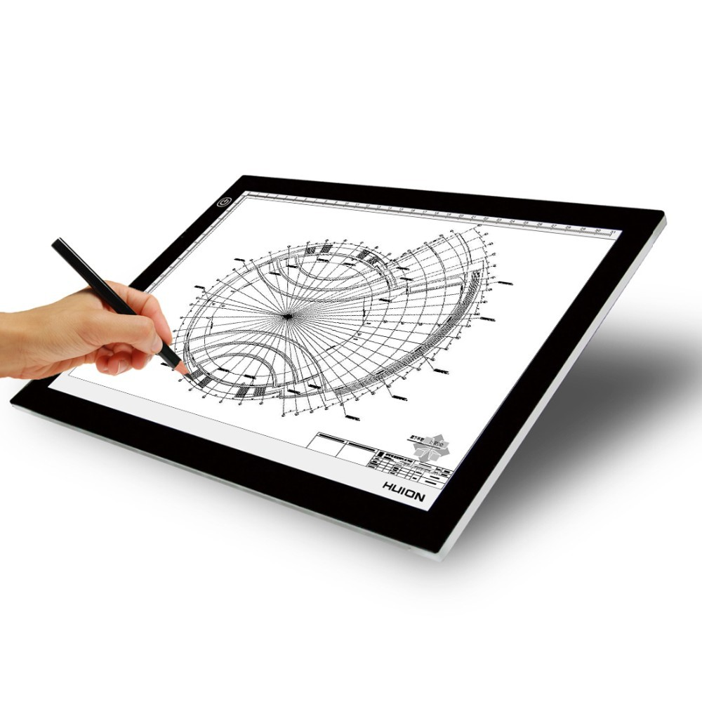 Huion L4S Professional Ultra Thin 12.2*8.3 Inch LED Adjustable Light Pad Tracing Board Animation ...
