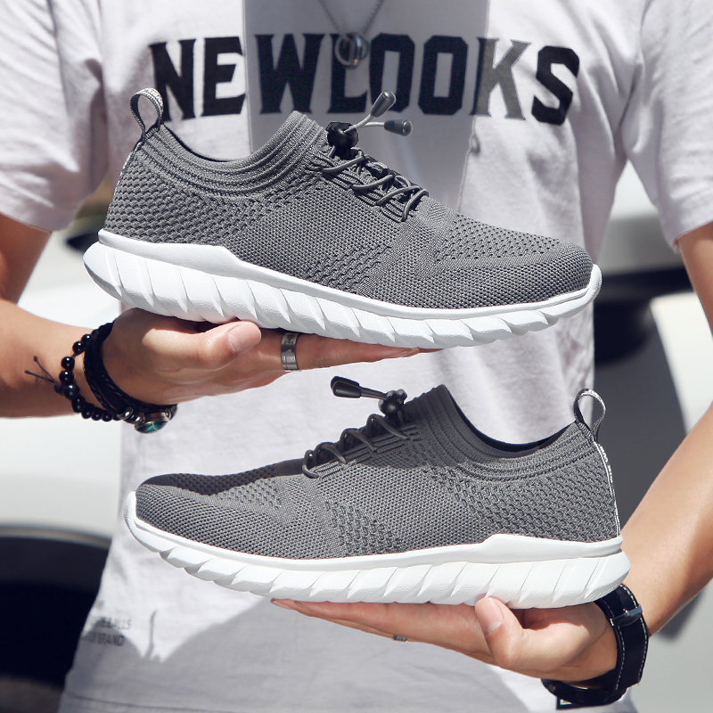 Men Running Shoes Soft Lightweight Athletic Sport Jogging Trainers Breathable Designer Mesh Sneakers