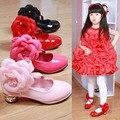 3 цвета детская shoes осень 2016 последняя волна небольшой девушки на высоких каблуках цветок детская shoes girls shoes