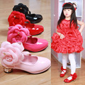 3colors children's shoes fall 2016 the latest tide small girls high heel flower children's shoes girls shoes