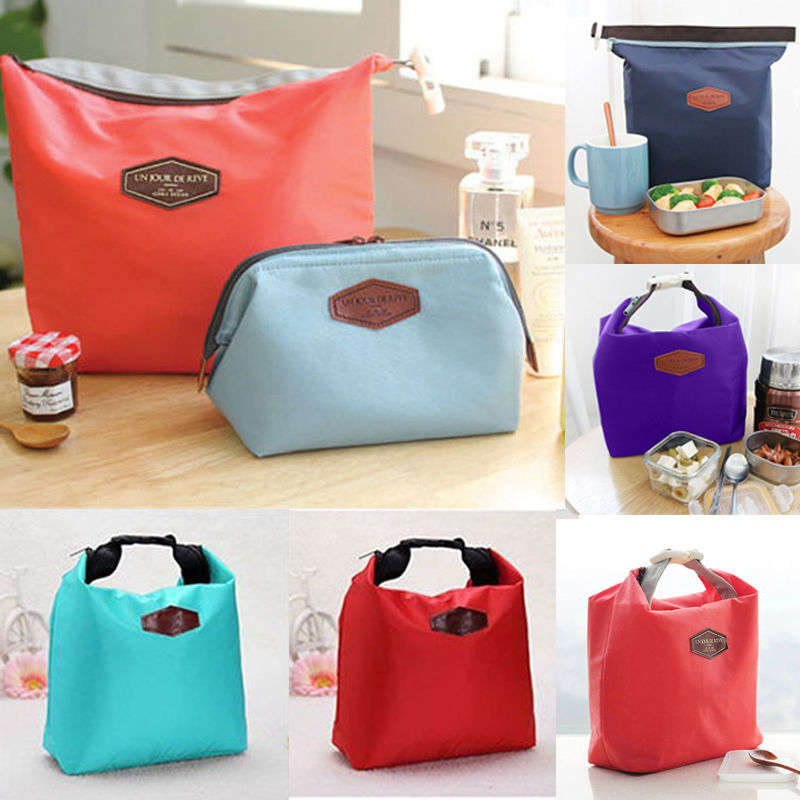 2017 Fashion Portable Insulated Nylon lunch Bag Thermal Food Picnic Lunch Bags for Women kids Men Cooler Lunch Box Bag Tote цена