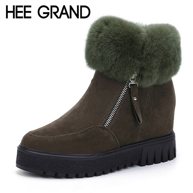 Hee grand creepers 2016 cuñas plataforma de las mujeres botas de piel casuales zapatos de mujer casual de las mujeres botas calientes de las mujeres zapatos de los planos xwx5397