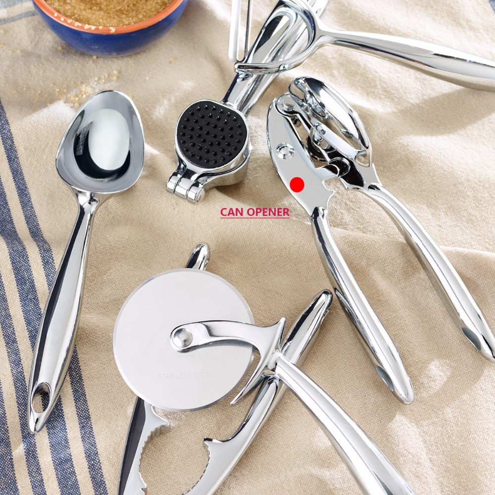 New Zinc Alloy Heavy Duty Can Opener For Canned Food With Ergonomic Shape 7