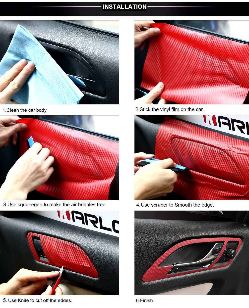 30cmx127cm 3D Carbon Fiber Vinyl Car Wrap Sheet Roll Film Car stickers and Decals Motorcycle Car Styling Accessories Automobiles 25