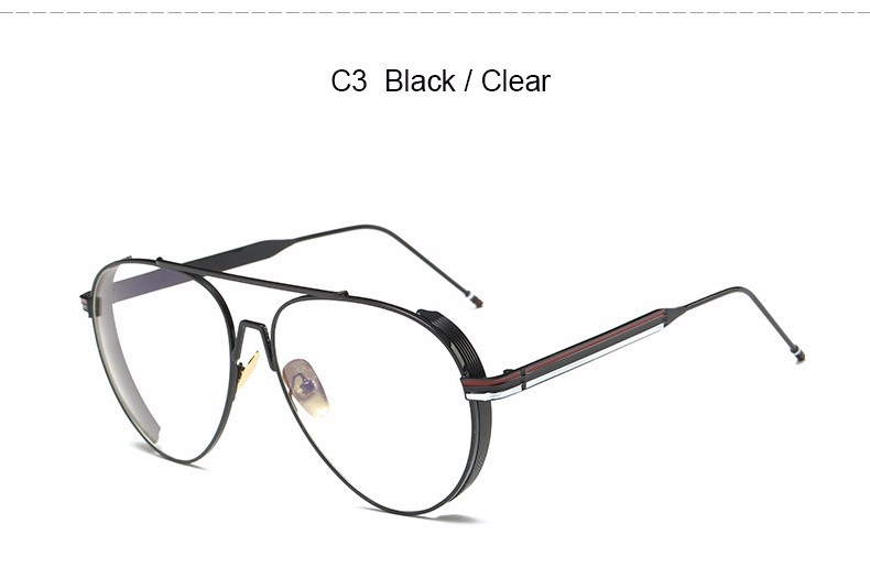 76a3465c4 JUSTRUE New 2017 Eyeglasses Thick Metal Frame Aviator Glasses Clear ...