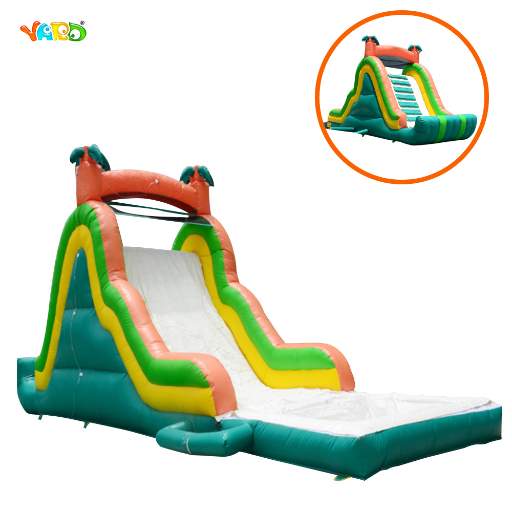 Best Cheap Large Inflatable Water Slides with Water Pool popular best quality large inflatable water slide with pool for kids