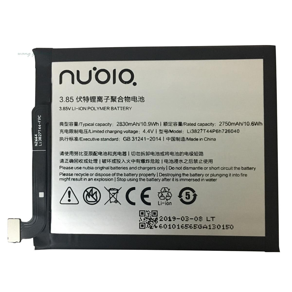 100% Original nouveau 3.85V 2830mAh Li3827T44P6h726040 pour ZTE Nubia Z11 Mini NX529J batterie