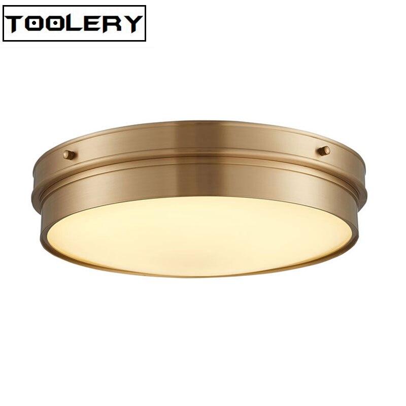 Америка Стиль Медь потолочный светильник 40 см 50 см Toolery Обеденная Спальня потолочный светильник Ресторан Главная коммерческих света