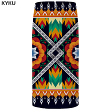 KYKU Brand Flower Skirts Women Black Pencil Skirt Colorful Knitted Vintage Sexy Elegant Party Ladies 2018 New Plus Size