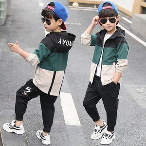 Image 2 - 2019 yeni çocuk Boys giyim seti çocuk Tops Hoodie ceketler + pantolon seti 4 6 8 10 12 14 15 yıl çocuk giyim erkek rahat takım elbise