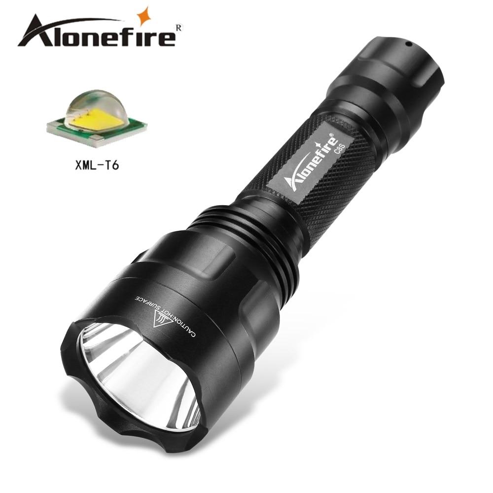 ALONEFIR CREE C8 Led Flashlight Cree XM-L2 T6 Tactical Hight Power Waterproof  Torch Lanterna Camping Combat Light 18650 Battery