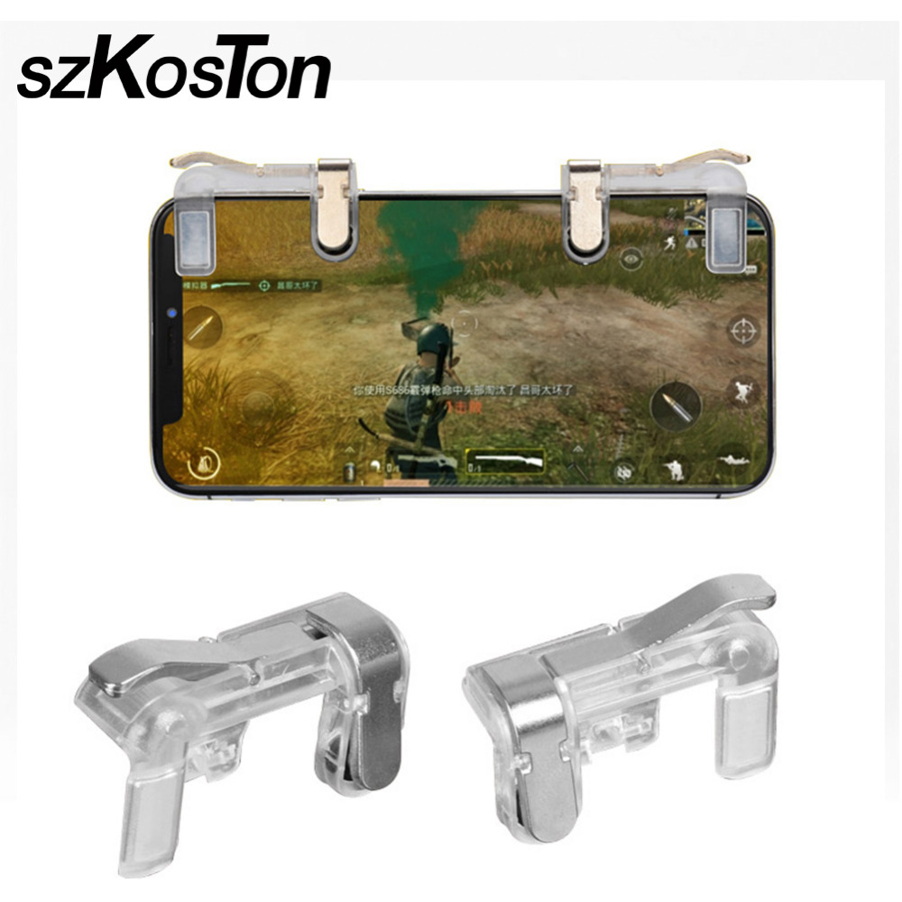 Game Controller L1 R1 Mobile Gaming Joystick Gaming Trigger Fire Button Aim Key For Rules of Survival/Critical Ops/PUBG/Fortnite