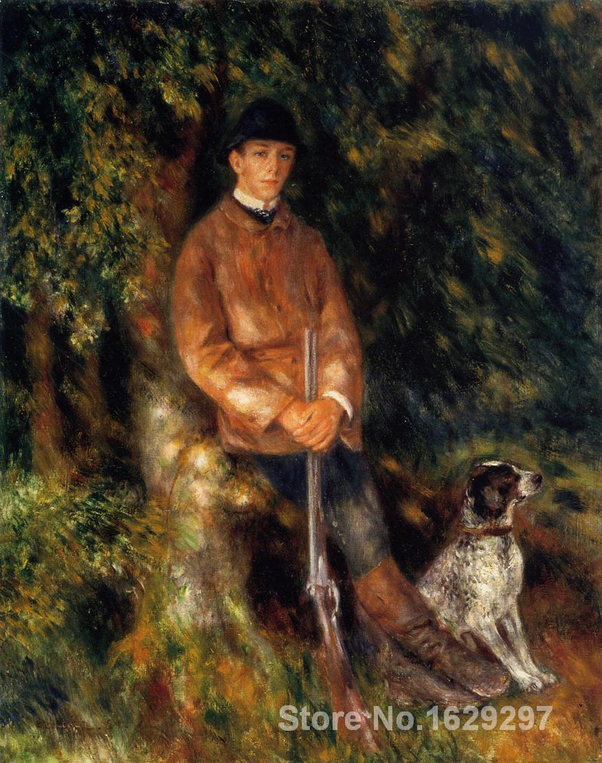 Картина маслом Художественная галерея Альфред berard и его собака Пьера Огюста Ренуара воспроизведение холст ручной работы высокого качества