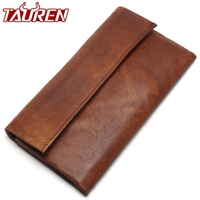 2019 New Retro Trend Women's Wallets For Ladies Clutches 100% Genuine Leather Thin Clutch Wallet For Girls Long Coin Card Purses