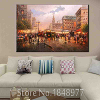 Cuadros Decoracion Abstract Oil Painting Paris Street Canvas Painting Morden Art Painting Wall Pictures For Living