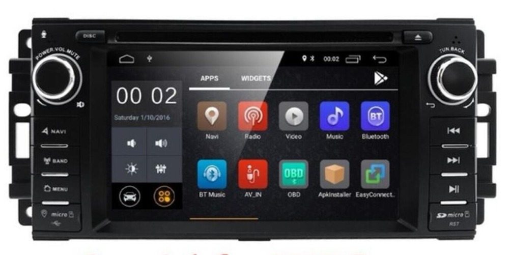 PURE Android 8.1 AutoRadio Car DVD Player Head Unit For jeep Grand Cherokee ChevroleWrangler Compass <font><b>Chrysler</b></font> <font><b>300C</b></font> Tape Recorder image