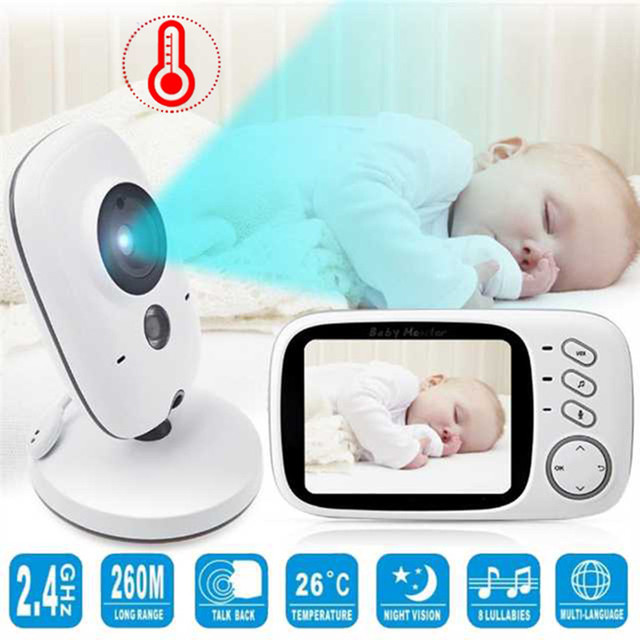 HD 3.2 inchs LCD Color Screen Baby Monitor Baby Nanny Security Camera Baba Eletronica Night Vision Video Temperature Monitor