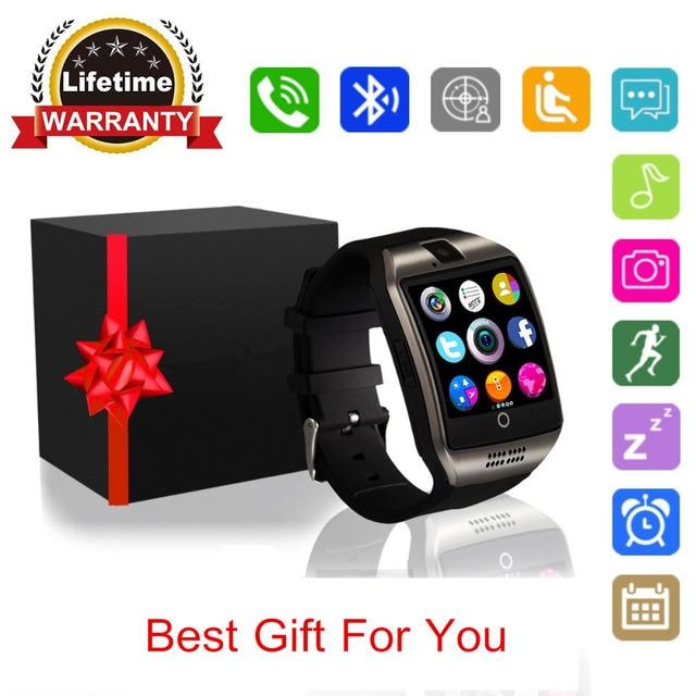 Handy Uhr Mit Sim Karte.Us 17 99 Q18 Smart Uhr Mit Kamera Bluetooth Smartwatch Wasserdichte Handy Uhr Smart Armbanduhr Mit Sim Karte Für Android Handys In Q18 Smart Uhr