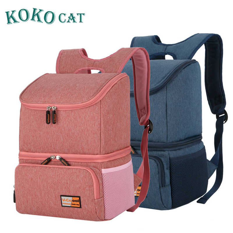 KOKOCAT Waterproof Lunch Bag for Women Men Picnic Storage Lunch Box Cooler Bag Tote Nylon  Insulation Lunch Bag Package Portable