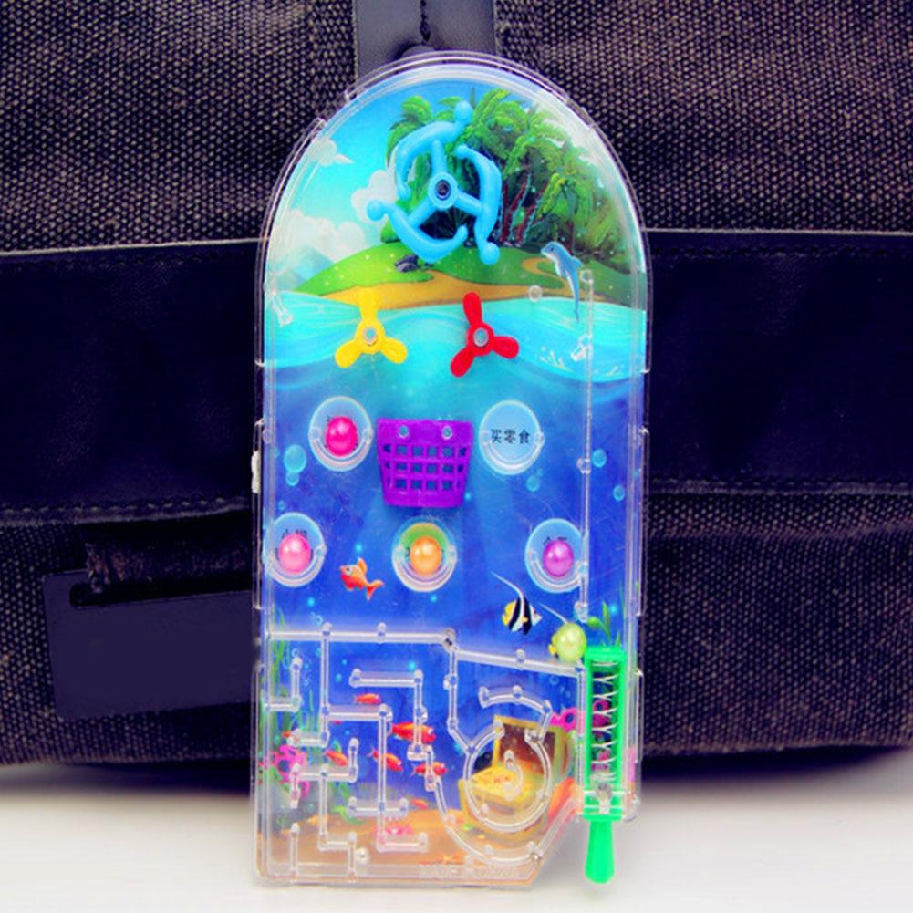 NEW Kids Party Educational Shooting Balls Mini Cartoon Pan Gift Games Machine Targets Pocket Pinball Toy Plaything Random Color